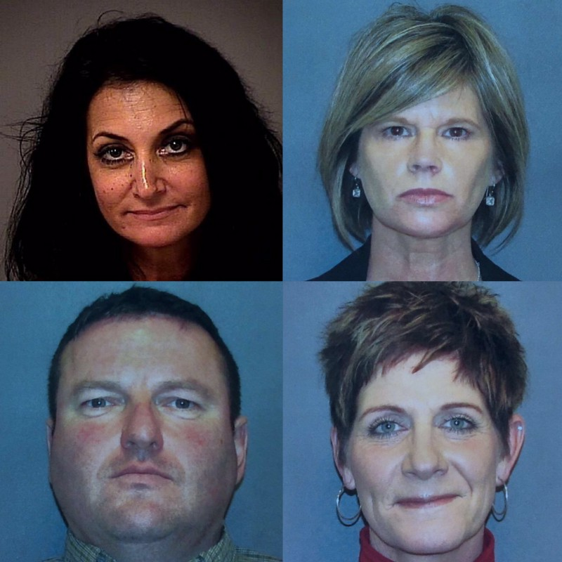 Top, Left to Right: Sandra Grazzini-Rucki, Dede Evavold. Bottom, Left to Right: Doug Dahlen, Gina Dahlen.