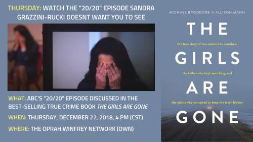 Thursday: ABC's '20/20′ episode about Sandra Grazzini-Rucki