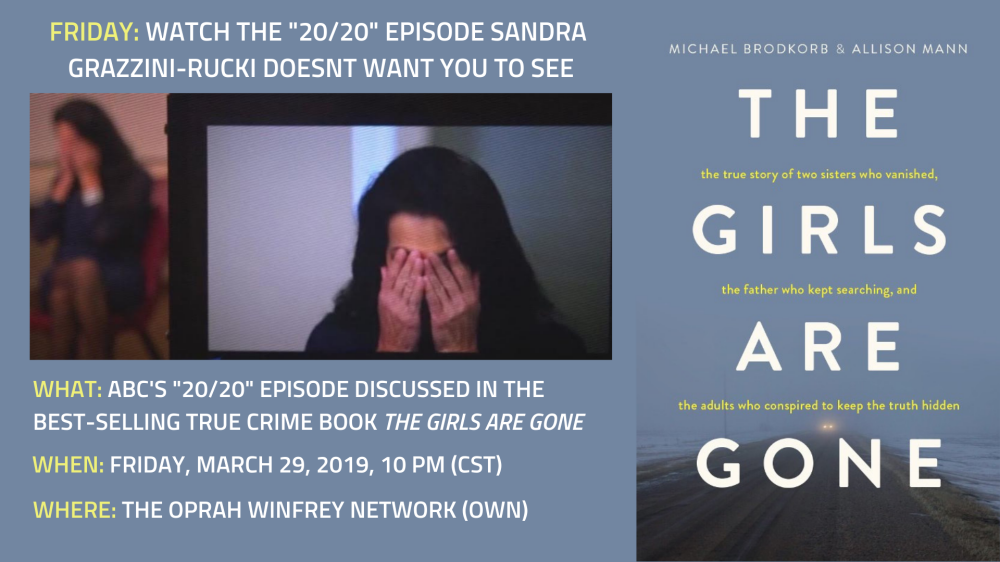 Friday: ABC's '20/20′ episode about Sandra Grazzini-Rucki